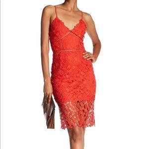 Beautiful Red Lace Slip Dress